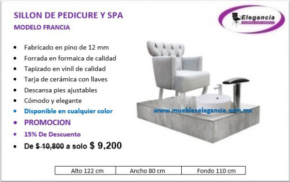 Banco de Pedicure